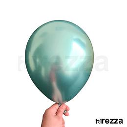 """Globo Verde Cromado 12"""""""
