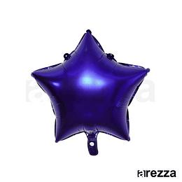 """Estrella Foil Azul 10"""""""