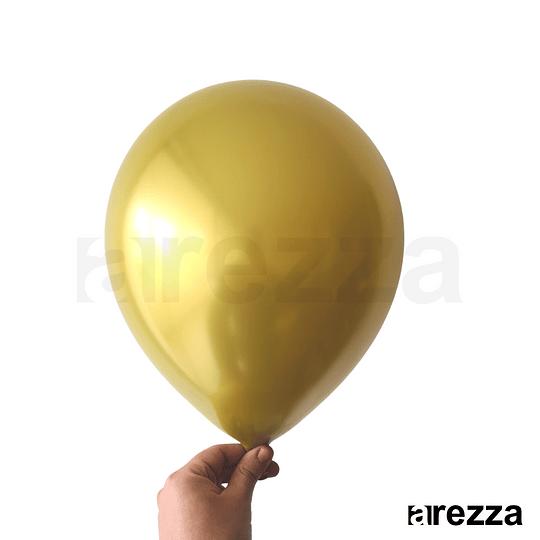 Globo Dorado Cromado 12
