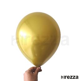 "Globo Dorado Cromado 12"""
