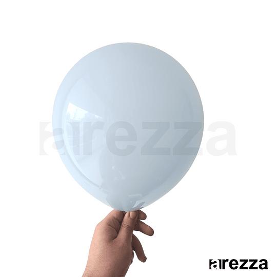Globo Azul Baby Pastel 10