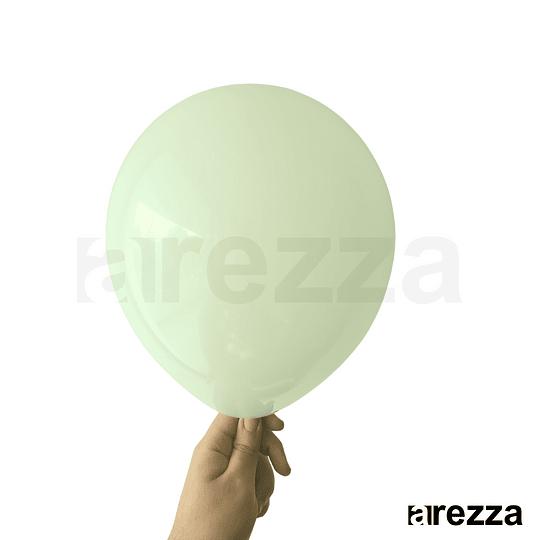 Globo Verde Menta Pastel 10