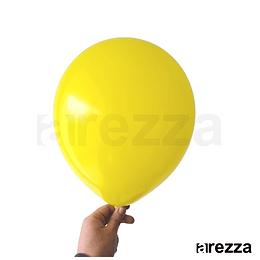 "Globo Amarillo Liso 12"""