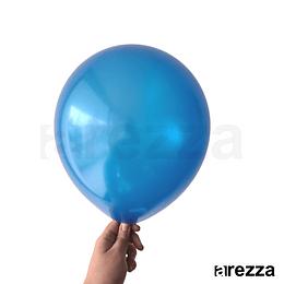 "Globo Azul Rey Metalizado 12"""