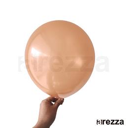 "Globo Naranja Metalizado 12"""