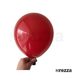 """Globo Rojo Vino Liso 10"""""""