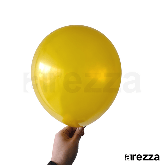 Globo Mostaza Metalizado 12