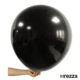 """Globo Negro Liso 36"""""""
