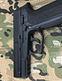 Pistola kwc sp2022 slide metal + láser + 3 co2 + 500 balines