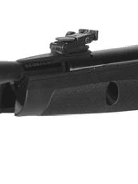 rifle gamo black fusión igt + 3-9x40 gamo con mono pieza + 500 postones crosman