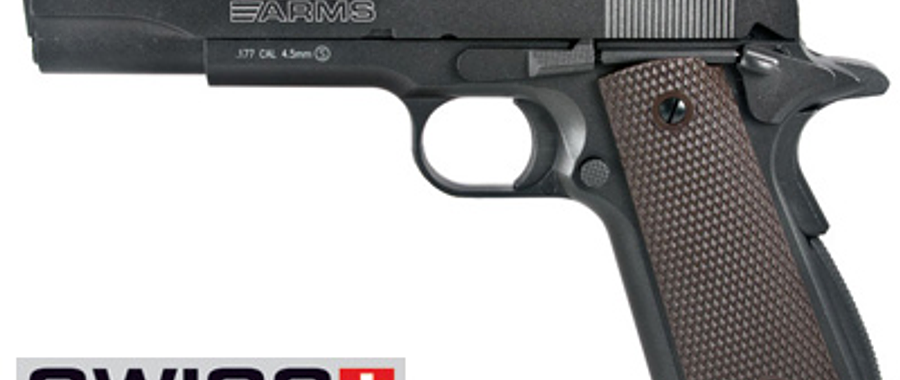 pistola swiss arms modelo colt 1911 blowback co2