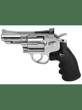 """Revolver Dan Wesson 2.5"""" silver cal 4.5 bbs"""