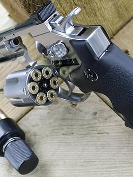 """Revolver Dan Wesson 8"""" silver cal 4.5 bbs"""