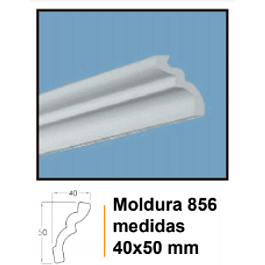 MOLDURA EPS EXTRUIDO DECOART 856 40X50MMX2MTS