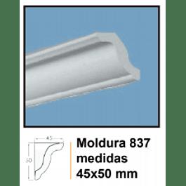 MOLDURA EPS EXTRUIDO DECOART 837 45X50MMX2MTS
