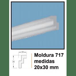 MOLDURA EPS EXTRUIDO DECOART 717 20X30MMX2MTS
