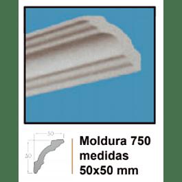 MOLDURA EPS EXTRUIDO DECOART 750 50X50MMX2MTS