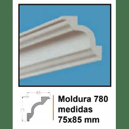 MOLDURA EPS EXTRUIDO DECOART 780 75X85MMX2MTS