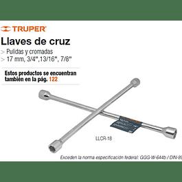 LLAVE DE CRUZ TRUPER UNIVERSAL 18PULG # LLCR-18