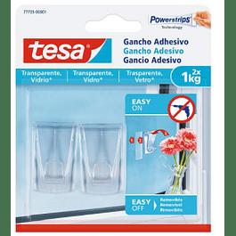 POWERSTRIPS GANCHO TRANSPARNTE TESA