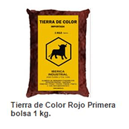 TIERRA DE COLOR ROJA 1KG CADINA