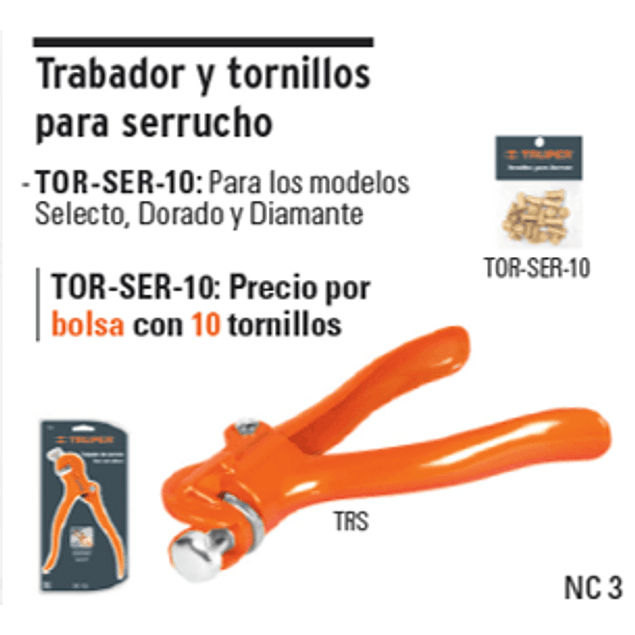 TRABADOR TRUPER P/SERRUCHOS # TRS