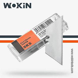 HOJAS CORTE 61X19MM 10PC WOKIN