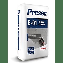 ESTUCO EXTERIOR E01 25KG PRESEC