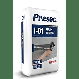 ESTUCO INTERIOR I01 25KG PRESEC