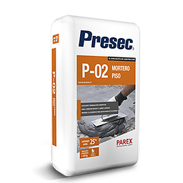 NIVELADOR DE PISOS PRESEC P02 25KG