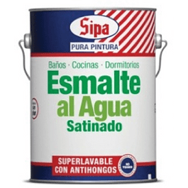 ESMALTE AGUA SATINADO BASE P GL SIPA