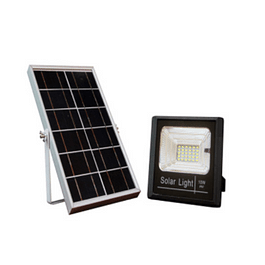 FOCO SOLAR 10W C/ PANEL SOLAR EXTERNO 6000k BYP