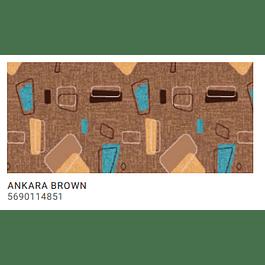 ALFOMBRA PASILLO ANKARA BROWN 0,67MT X METRO LINEAL