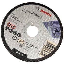 DISCO CORTE RECTO 4 1/2X7/8PULG 2,5MM ESPESOR, GRANO 30 BOSC