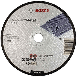 DISCO CORTE RECTO 7X7/8 3MM ESPESOR GRANO 30  BOSCH