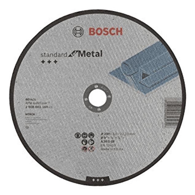 DISCO CORTE RECTO 9 X 7/8 3MM ESPESOR GRANO 30 BOSCH