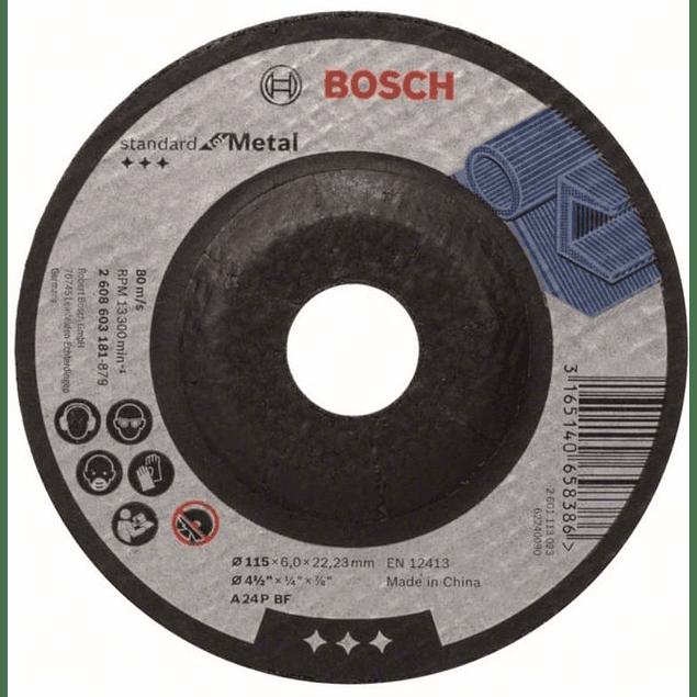 DISCO DESBASTE 4.1/2 X 7/8 X 6mm GRANO 24 BOSCH