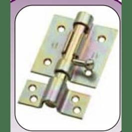 PICAPORTE C/PERFORACION P/CANDADO 100MM C/TORNILLOS ZINC LIOI