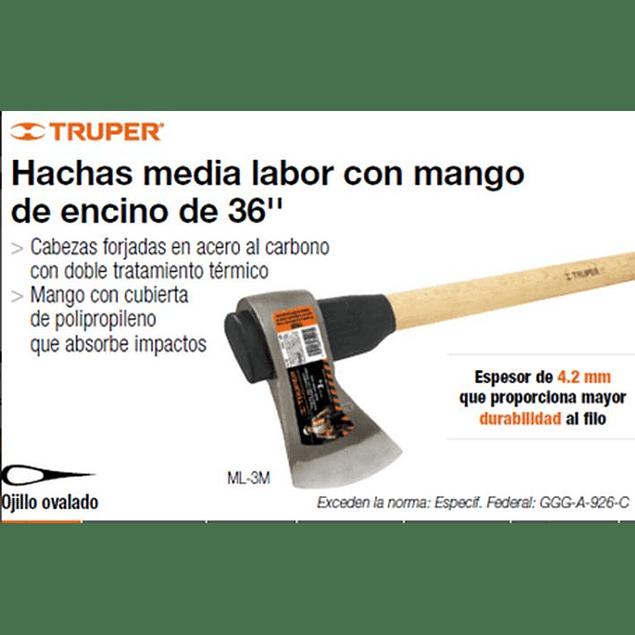 HACHA TRUPER MEDIA LABOR 4.1/2LBS #ML-4-1/2M  C/MANGO 36