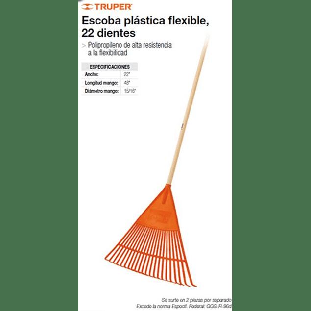 RASTRILLO 26 DIENTES PLASTICO CON MANGO #  EP-26R TRUPER