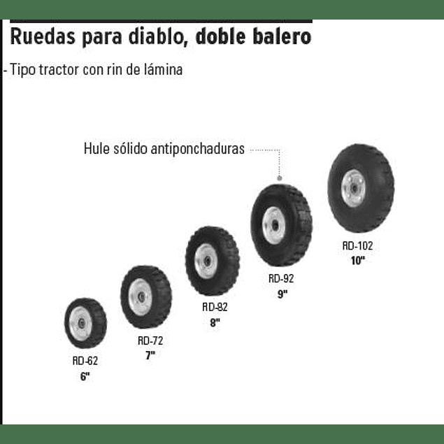 RUEDA P/CARRO T/ YEGUA COMPLETA TRUPER 6PULG # RD-62