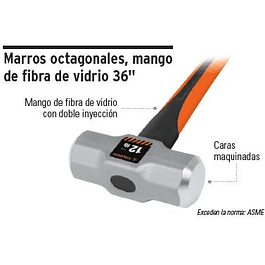 COMBO TRUPER 6 LBS. MANGO FIBRA VIDRIO# MD-6F