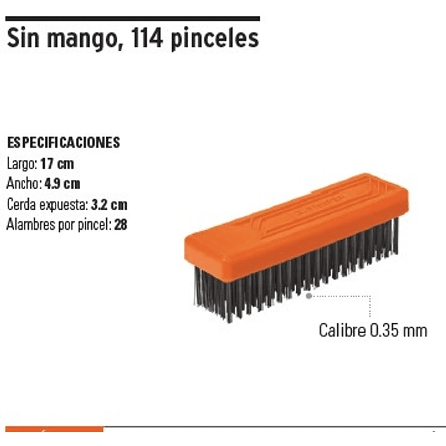 ESCOBILLA ACERO TRUPER S/MANGO 6 X 19 HILERAS # CEA-36