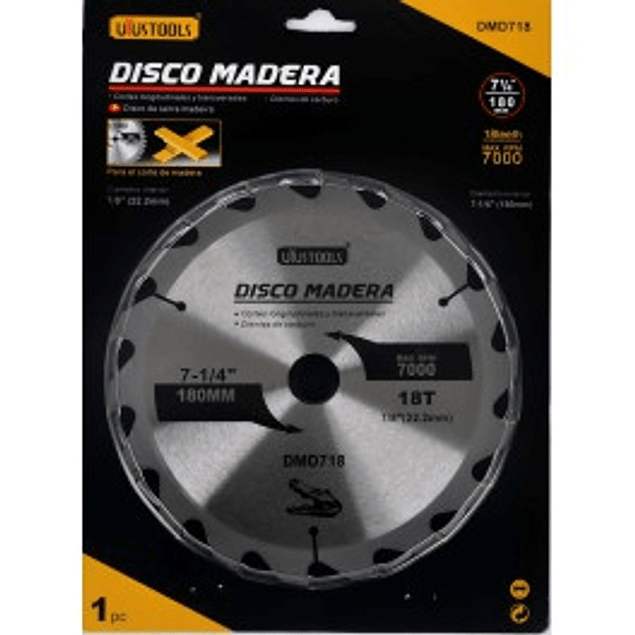 DISCO MADERA 180 X 18T UYUSTOOLS