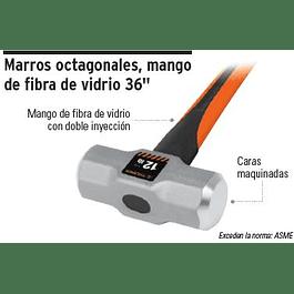 COMBO TRUPER 8 LBS. MANGO FIBRA VIDRIO# MD-8F