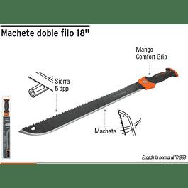 MACHETE DOBLE FILO 18PULG TRUPER