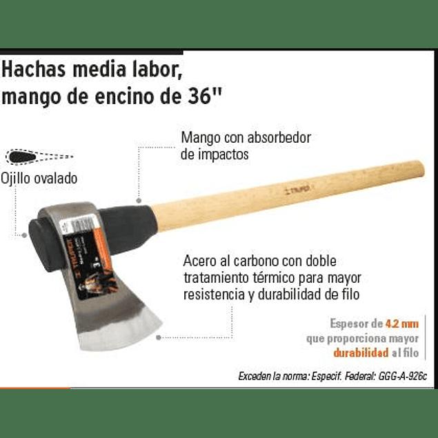 HACHA TRUPER MEDIA LABOR 4  LBS. # ML-4M  C/MANGO 36