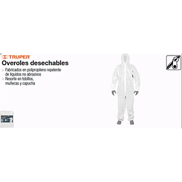 OVEROL DESECHABLE XL