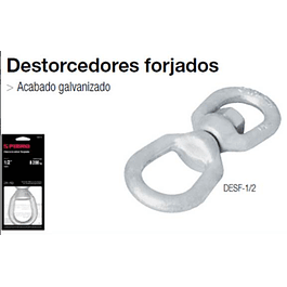 DESTORCEDOR TRUPER GALVANIZADO 5/16 570KG