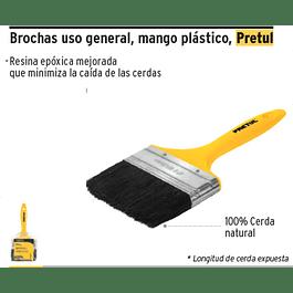 BROCHA MANGO PLASTICO 2 1/2 PRETUL